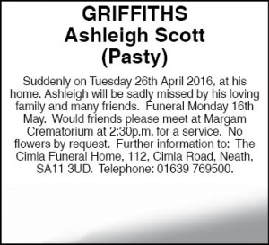Ashleigh Scott Griffiths Facebook