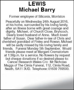 Mr Michael Barry Lewis