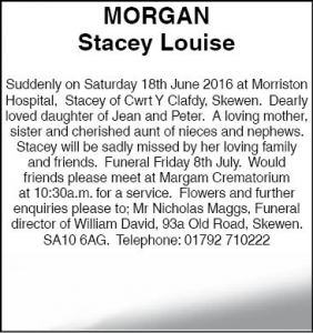 Stacey Louise Morgan Amended